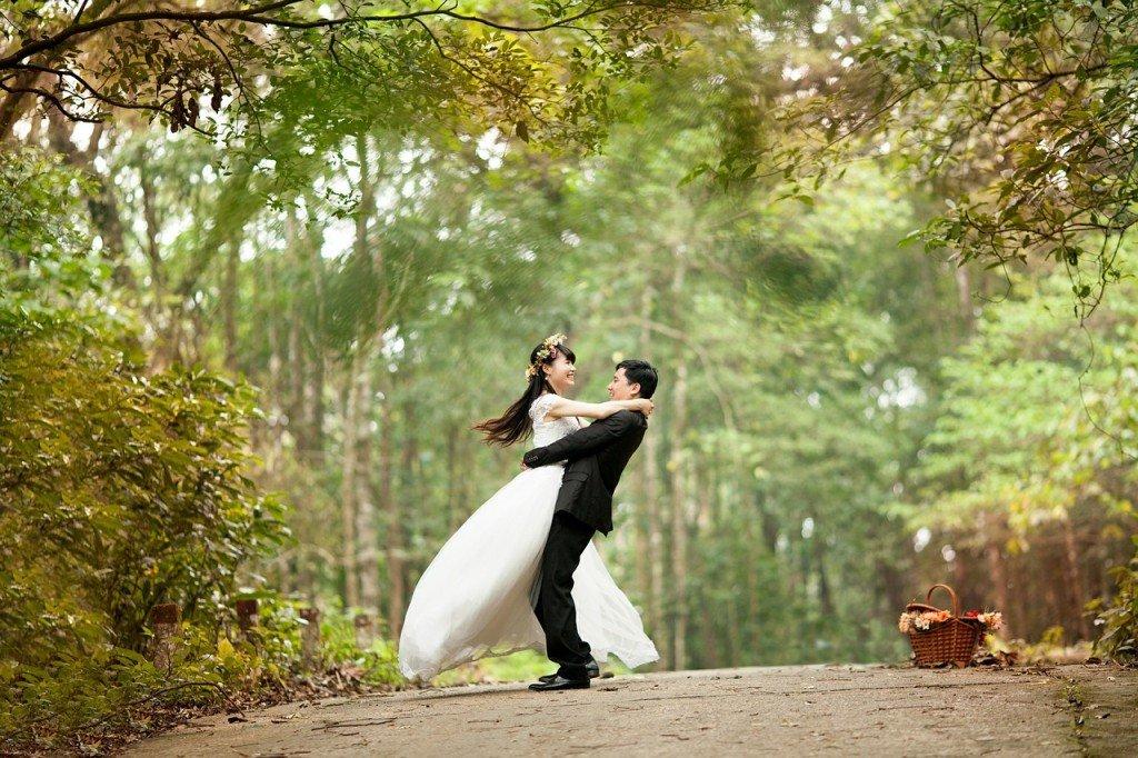 wedding venue bride and groom